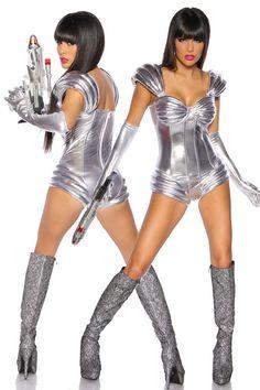 Spaceanzug Astronaut Body GoGo Style Disco Outfit Fasching Karneval Fastnacht   eBay