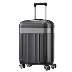 TITAN Spotlight Flash Kabinentrolley 55 cm 4 Rollen grau #reisen #travel #titan #spotlight