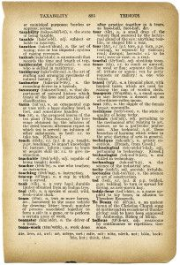 Old Dictionary Page Vintage Pages Free Printable Book