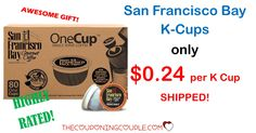 Get a HOT DEAL on K-cups!! Pay only $0.24 each shipped for San Francisco Bay K-cups! This is definitely a stock up price! Grab a box to have plenty for those new Keurigs!  Click the link below to get all of the details ► http://www.thecouponingcouple.com/san-francisco-bay-k-cups-only-0-29-each-shipped-stock-up/  #Coupons #Couponing #CouponCommunity  Visit us at http://www.thecouponingcouple.com for more great posts!