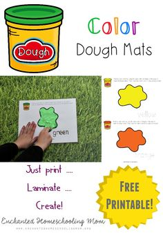Practice your color skills with fun hands-on color dough exercises with these FREE Color Dough Mats!