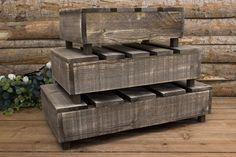Ξύλινα Καφάσια 3τεμ WI605140-GBR  Σετ ξύλινα καφάσια σε χρώμα γκρίζο-καφέ. Το σετ περιλαμβάνει 3 καφάσια. Διαστάσεις:Μεγάλο: 60cm x 34cm x 11cm Μεσαίο: 51cm x 30cm x 11cmΜικρό: 40cm x 36cm x 11cm Firewood, Bench, Storage, Crafts, Furniture, Home Decor, Purse Storage, Woodburning, Manualidades