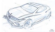 Car Design Sketch, Car Sketch, Mercedes Concept, Perspective Sketch, Line Sketch, Industrial Design Sketch, Sketch Inspiration, Cool Sketches, Car Drawings