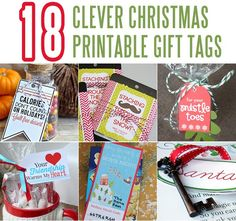 18 Clever Christmas Printable Gift Tags that will take simple gifts and turn them into thoughtful gifts!