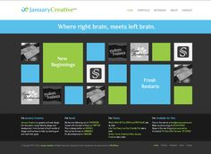 January Creative Website, I like the idea of using the wookman or isotope jquery plugins