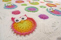 Lollipop Owl Obsession Afghan