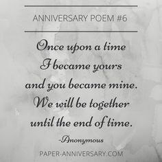 short and sweet! LOVE this anniversary poem for him. For my husband's 1st anniversary card!