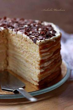 Arabeska : Marcinek II No Bake Cake, Vanilla Cake, Cakes, Baking, Sweet, Desserts, Food Ideas, Wafer Cookies, Candy
