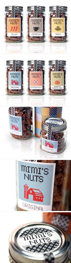 Mimi's Nuts by Drew Watts yummy #nuts and #packaging PD