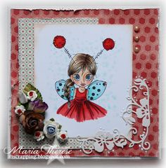 Saturated Canary - Little Lady Bug Card by Maria Therese