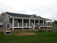 The ranch style porch of your dream awaits. Just because you don't own the spr… The ranch style porch of your dream awaits. Mobile Home Porch, Mobile Home Exteriors, Porches On Mobile Homes, Front Porch Design, Screened In Porch, Porch Designs, Front Porches, Porch Roof, Front Deck