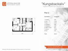 """Villa """"Kungsbackaliv"""" planritning 2  Besök www.attefalls.se"""