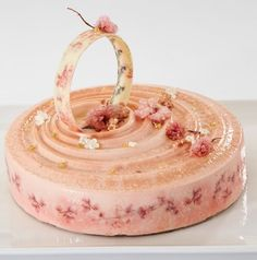 Joane Yeoh: #Whitebean, #Asashi #cherry jelly, #peach, #chocolate #almond and #pistachio @callebautoz #entremet - Vote for your favourite! Winning competitors product to receive a #standmixer from @kitchenaidausnz #savourcomp #pastry #pastrychef #callebaut @rwphoto