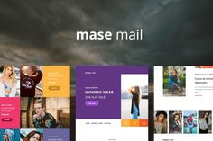 Mase Mail - Responsive E-mail Template by williamdavidoff on Envato Elements Html Website Templates, Email Templates