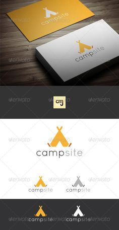 Camp Site Logo Template by mobiuswebdev Vector Logo Simple yet strong social & collaboration logo. Perfect for app icons, social networks and/or collabor Camping Snacks, Tent Camping, Campsite, Logo Design Template, Logo Templates, Tent Logo, Symbol Logo, Hulk Symbol, Flower Symbol