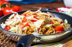 Casserole de bœuf et de nouilles à saveur de taco