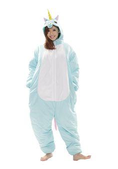 Blue Unicorn Ski Suit