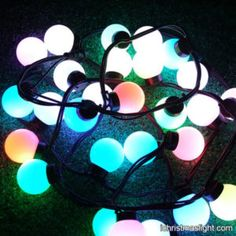 Color changing LED ball fairy lights | iChristmasLight Led Fairy Lights, Led String Lights, Color Changing Led, Color Change, Christmas, Xmas, Navidad, Noel, Natal