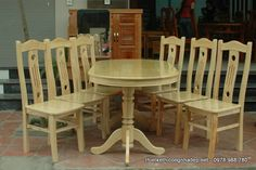Ghế ăn gỗ sồi tự nhiên kiếu bán cổ điển