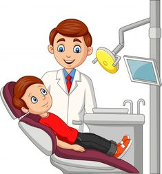 Dentist Cartoon, Tooth Cartoon, Cartoon Monkey, Cartoon Fish, Cartoon Boy, Preschool Learning Activities, School Posters, Community Helpers, Free Graphics