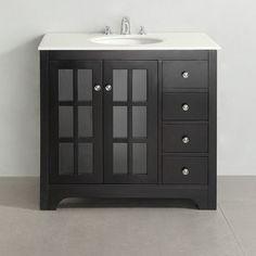 "Simpli Home Orleans Single 36"" Bathroom Vanity Set"