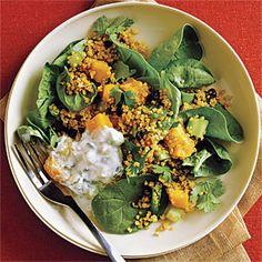 Curried Quinoa Salad with Cucumber-Mint Raita Recipe   MyRecipes.com