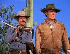 Bob Hoy (Joe Butler) & Don Collier (Sam Butler) - The High Chaparral Chief Dan George, Cowboy Films, The High Chaparral, Tv Westerns, Rare Images, Western Movies, Classic Tv, Old Movies, Actors & Actresses