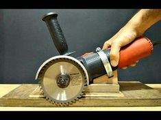 Homemade angle grinder holder with multi functioning action - YouTube