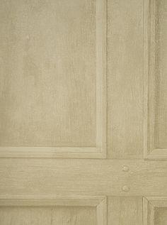 Regent Wallpaper Light oak panel effect wallpaper in very light brown/linen wash.