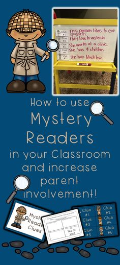 My favorite activity to get parents involved in our classroom is to have them be a mystery reader. Here's how my mystery reader program wor. Senses Preschool, Preschool Books, Kindergarten Activities, Best Parenting Books, Foster Parenting, Notes To Parents, Parent Notes, Teaching Reading, Reading Tips