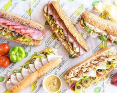 Sandwich Bar, Deli Sandwiches, Best Subway Sandwich, Funeral Sandwiches, Sandwich Recipes, Subway Menu, Sandwich Packaging, Dessert For Dinner, Food Pictures