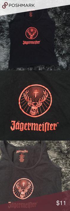 Jägerneister Black Tank Jagermeister Black Tank Top. Size small Tops Tank Tops