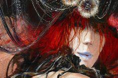 """""""Liane et le Phoenix""""  (détail)  http://marcel-pajot.blogspot.fr/"""