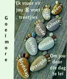 Greetings For The Day, Afrikaanse Quotes, Goeie Nag, Goeie More, Special Quotes, Diy Photo, Good Morning Quotes, Dog Tag Necklace, Qoutes