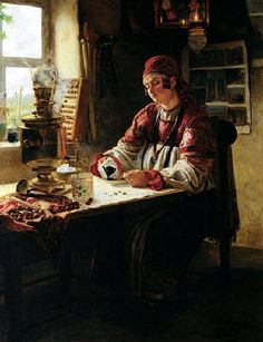 Михаил Петрович Клодт (1835-1914). За чайком.jpg