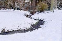 Winterlandschaft im Nerotal, Wiesbaden.