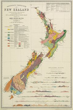 5 Star Image, Map Of New Zealand, Old Wall, Wall Maps, Cartography, Restoration Hardware, Geology, Home Deco, Fine Art Paper