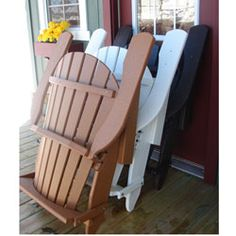 Wonderful Forever Phat Tommy Recycled Deluxe Folding Adirondack Chair By Phat Tommy