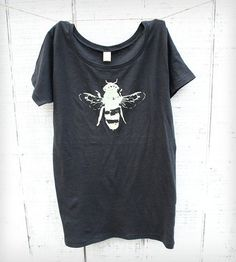 Women's Honey Bee T-Shirt, Charcoal by Naturwrk on Scoutmob Shoppe