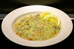 Griechische Hühnersuppe mit Eier-Zitronen-Sauce: Kotosoupa avgolemono