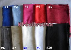 Fashion Pashmina Long Soft Wool Scarf Shawl Wrap Women Men Multi Colours