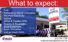 Did you know we have pre-paid electricity in our store?  We also offer ATM services, fuel and you can apply for an account at our store. To top it all of we cater for everyone as we are well equipt with a wheelchair-friendly ramp.  Come see what we have to offer TODAY! #elmadre #fuelstation #onestop Atm Services, Pre Paid, Filling Station, Catering, How To Apply, Store, Community, Life, Catering Business