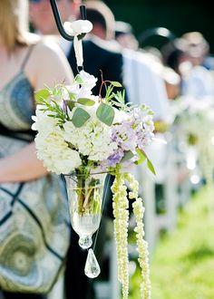 A little aisle decor for your grand entrance {Floral Fields} - shepherd hook Wedding Spot, Plan Your Wedding, Wedding Flowers, Dream Wedding, Wedding Chair Decorations, Flower Decorations, Wedding Planning Pictures, Wedding Ideas, Wedding Arbors
