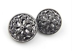 Amazon.com: Hollow Flower Metal Shank Buttons for Fashion Coats (Silver, Pack of 6)