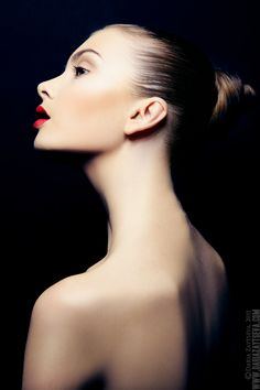 so natural and pure ! the red lips are gorgeous !