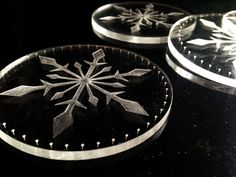 snowflake coasters acrylic by DreamADesign Christmas Gifts, Christmas Decorations, Cut Work, Christmas Snowflakes, Coasters, Gifts For Her, Carving, Crafty, Laser Cutting