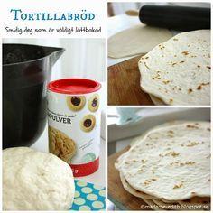 Det är enkelt att göra tortillabröd själv - Degen är mycket lättarbetad Tortillabröden är ett bakpulverbröd och behöver alltså inte jäsa...