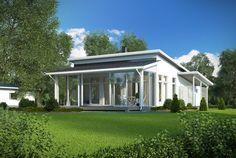 Kompakti, mutta näyttävä – Kivenpoika: 124 m², 3 makuuhuonetta, 1-kerroksinen omakotitalo