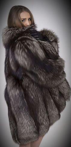 Fox Fur, Furs, Fur Coat, Nice, Silver, Jackets, Fashion, Dressing Up, Down Jackets