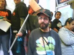 My son Daryl at Giants victory parade 2012.